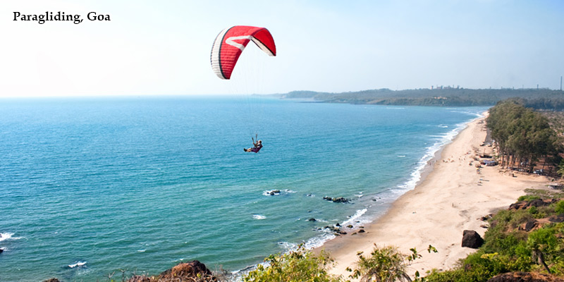 Paragliding in Goa, Main Water Sports Activities in Goa, India